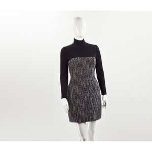 Vestido Dior em tweed B&W