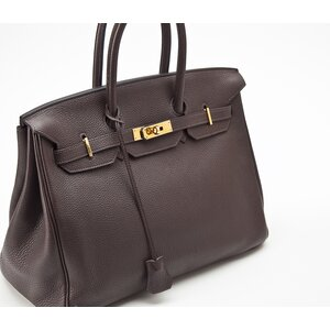 Bolsa Hermes Birkin 35 clemence marrom