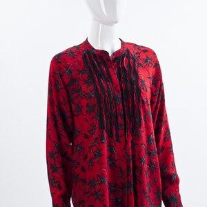 Camisa Zadig & Voltaire seda em vermelho e preto