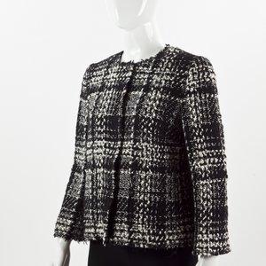 Jaqueta Dolce& Gabbana em tweed B&W