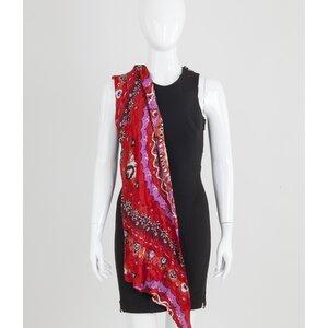 Lenço Pucci de seda estampado vermelho