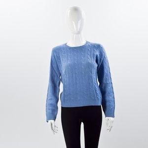 Malha Ralph Lauren em cashmere azul claro