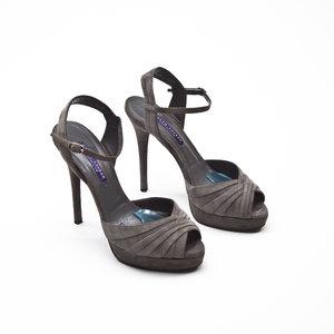 Sandalia Ralph Lauren em camurça cinza