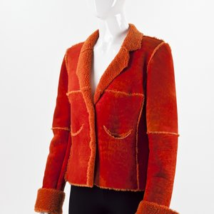 Blazer Chanel em camurça coral