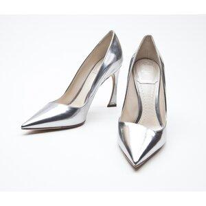 Sapato Dior em couro prata