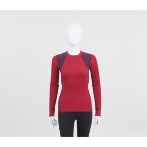 Malha Louis Vuitton em vermelho e bordô