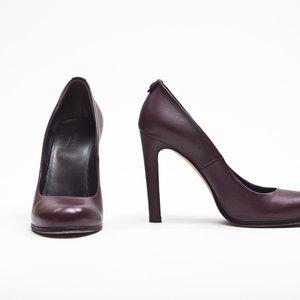 Sapato Gucci em couro bordô