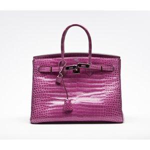 Bolsa Hermes Birkin 35 croco rosa