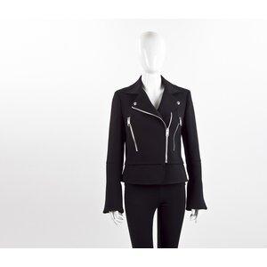 Jaqueta Balenciaga preto ziper prateado