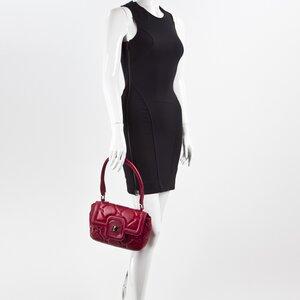 Bolsa Longchamp couro vermelha