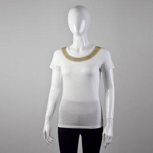 T-Shirt Emporio Armani off white com bordado