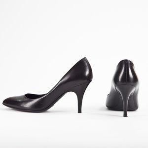 Sapato Ralph Lauren em couro preto
