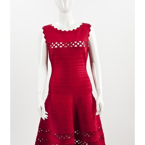 Vestido Herve Leger vermelho