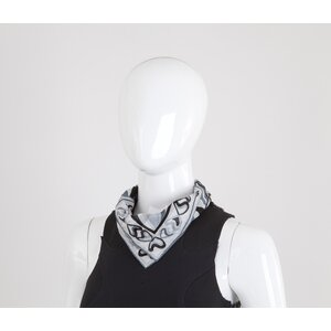 Lenço Pucci cotton branco e cinza