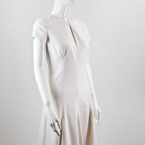 Vestido Ralph Lauren em crepe de seda branco