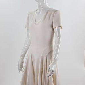 Vestido Dior branco com manga curta