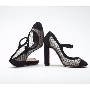 Sapato Dolce & Gabbana camurça e renda preto