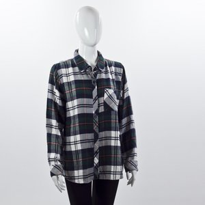 Camisa Rails xadrez em verde e branco