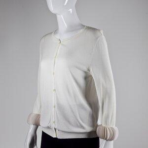 Cardigan Valentino em malha off white
