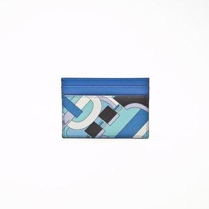 Porta cartão Pucci em couro estampado