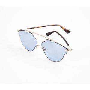 Óculos Dior com armação dourada