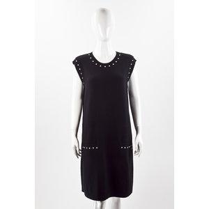 Vestido Chanel em Cashmere preto com pérolas