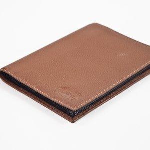 Album Longchamp para fotos em couro caramelo