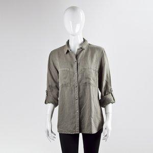 Camisa Rails em linho verde oliva