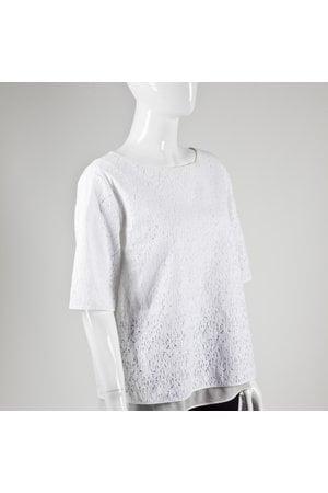 Camisa Vince manga curta em guipir branca