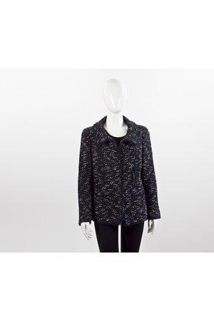 Blazer Chanel em tweed azul/preto/branco