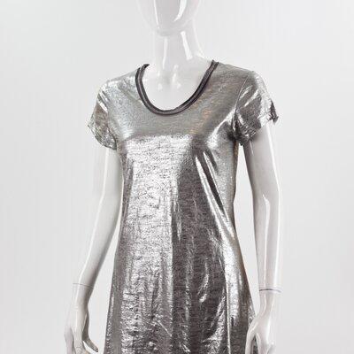 Mini vestido T-Shirt Diesel + Edum prateado