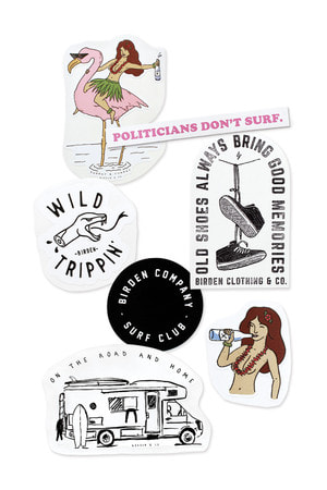 KIT 7 ADESIVOS / STICKERS BIRDEN