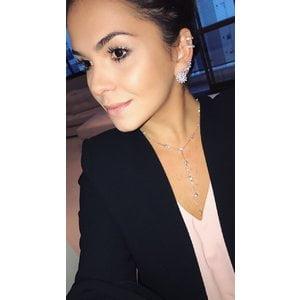 Colar Gravatinha Melissa Ponto Luz Prata925