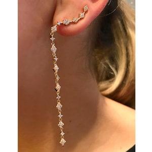 Brinco Ear Cuff Shine Line Ouro