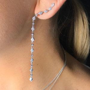 Brinco Ear Cuff Shine Line Rodio