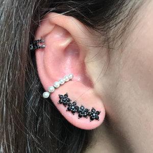 Brinco Ear Cuff Estrelinhas Prata925