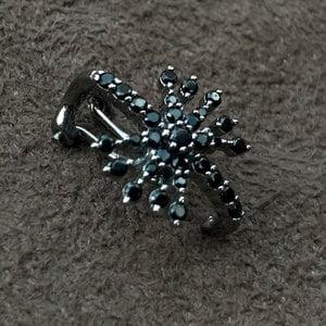 Piercing Estrela Negra Prata925