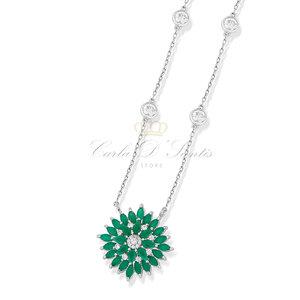 Colar Luxo Esmeralda Prata925