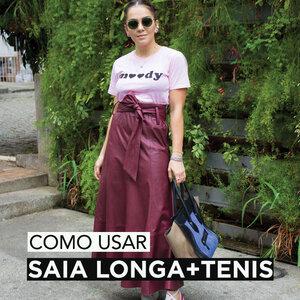 TENDÊNCIA INVERNO - SAIA LONGA + TENIS