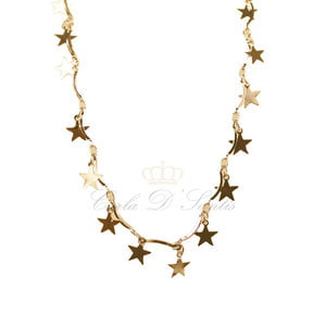 Colar Estrelas Ouro