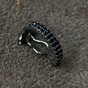 Piercing Closed Jade Rodio Negro Prata925