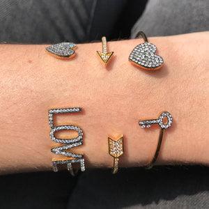 Bracelete Coração Chavinha Prata925