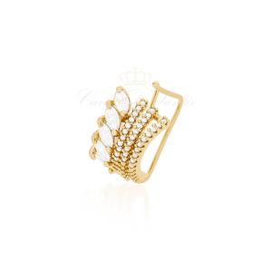 Brinco Piercing detalhe Navete Ouro