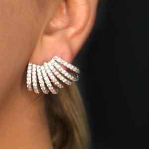 Brinco Ear Cuff Paula PRATA925
