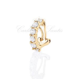 Ear Hook Closed Ouro Prata925
