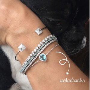 Bracelet Prata925 com Detalhe Cravejado