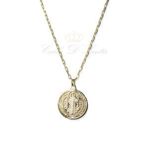 Colar Medalha de Sao Bento Longo