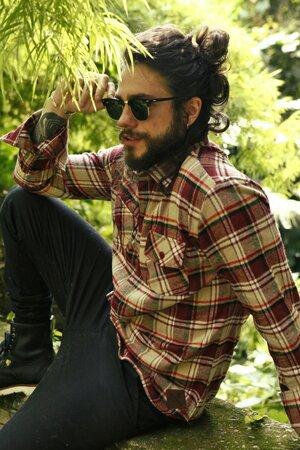 Camisa Xadrez Wine