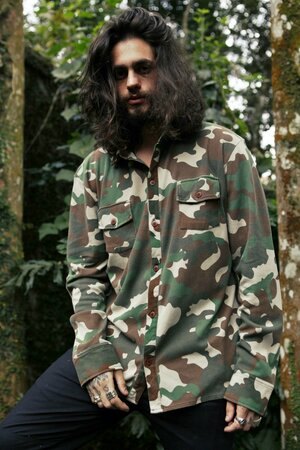 Camisa Camuflada Mens