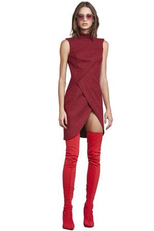 Vestido Gola Alta Tricot